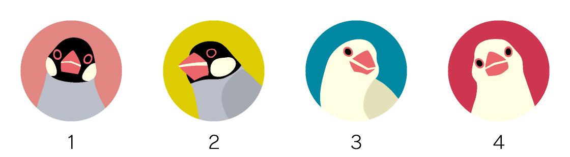 マグネットデザイン 鳥の種類フィンチ
